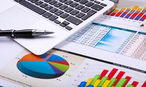 Sales diagrams and charts for examining wins and losses